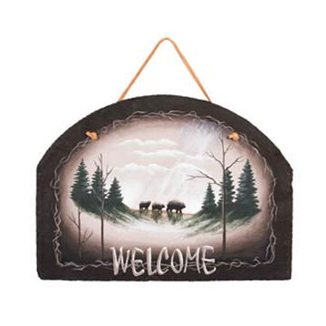 Timeless By Design Bear Country Welcome Slate