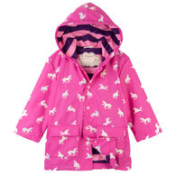HatleyGirls' Colour Changing Unicorns Silhouettes Classic Rain Jacket