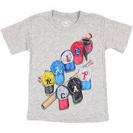 Wes & Willy Boys' Rally Cap Baseball Short-Sleeve T-Shirt