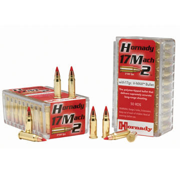 Hornady Varmint Express 17 Mach2 17 Grain V-Max Rimfire Ammo (50)
