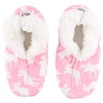Lazy One Womens Classic Moose Fuzzy Feet