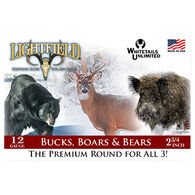 "Lightfield Bucks, Boars & Bears 12 GA 2-3/4"" 465 Grain Sabot Slug Ammo (5)"