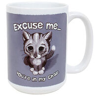 Earth Sun Moon Excuse Me Cat Mug