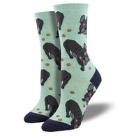 Socksmith Design Women's Frenchie Fellowship Bulldog Crew Sock