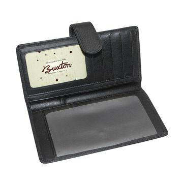 Buxton Womens Hudson Tab Checkbook Keeper