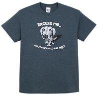 Earth Sun Moon Trading Men's Excuse Me Dog Short-Sleeve T-Shirt