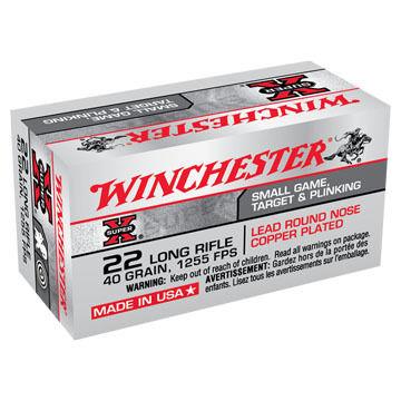 Winchester Super-X 22 LR 40 Grain LRN Rimfire Ammo (50)