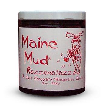 Maine Mud Razzamatazz Dark Chocolate Sauce - 4 oz.