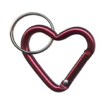 Bison Designs Heart Micro Carabiner Keychain - 2 Pk.