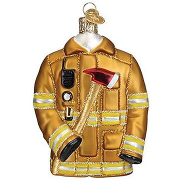 Old World Christmas Firefighters Coat Ornament