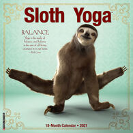 Willow Creek Press Sloth Yoga 2021 Wall Calendar
