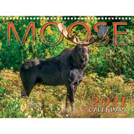 Maine Scene Moose 2021 Wall Calendar