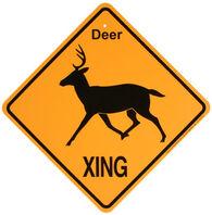 KC Creations Deer XING Sign