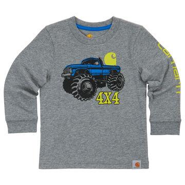 Carhartt Boys 4x4 Monster Truck Long-Sleeve T-Shirt
