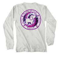 Puppie Love Youth Prairie Wine Tie Dye Fill Logo Pup Long-Sleeve Shirt