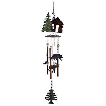 Sunset Vista Design Wilderness Wonders Cabin Fever Wind Chime