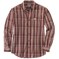 Carhartt Men's Relaxed Fit Cotton Plaid Long-Sleeve Shirt