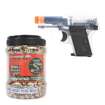 Palco Sports Ultrasonic BBs w/ Bonus Colt .25 Airsoft Pistol