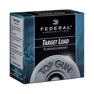 "Federal Top Gun Target 12 GA 2-3/4"" 1-1/8 oz. #7.5 1145 FPS Shotshell Ammo (25)"