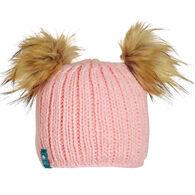 Turtle Fur Girl's Puff Balls Beanie