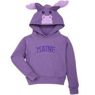 Wild Child Hoodies Girl's Purple Moose Sweatshirt