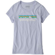 Patagonia Girl's Pastel P-6 Logo Organic Cotton Short-Sleeve T-Shirt