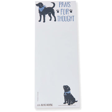 Hatley Little Blue House Paws for Thought Magnetic List Notepad