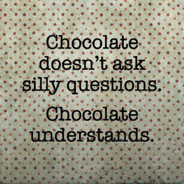 Paisley & Parsley Designs Chocolate Doesn't Ask Questions Marble Tiles Coaster