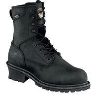 "Irish Setter Men's Mesabi 8"" Waterproof Leather Steel Toe EH Logger Boot"