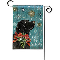 BreezeArt Let It Snow Lab Garden Flag