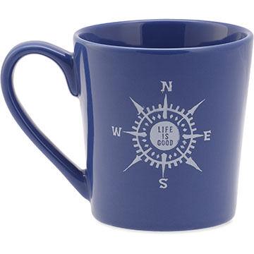Life is Good Everyday Compass Mug
