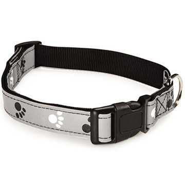 Casual Canine Reflect Pawprint Dog Collar