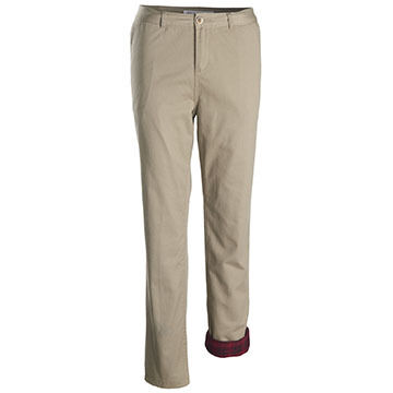 Woolrich Womens Alderglen Flannel-Lined Chino Pant - Curved
