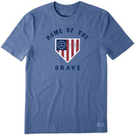 Life is Good Men's Brave Home Plate Crusher Tee Short-Sleeve T-Shirt