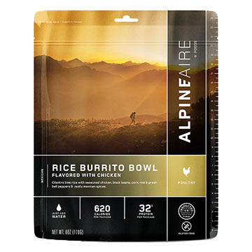 AlpineAire Chicken Burrito Bowl Gluten Free Meal - 2 Servings