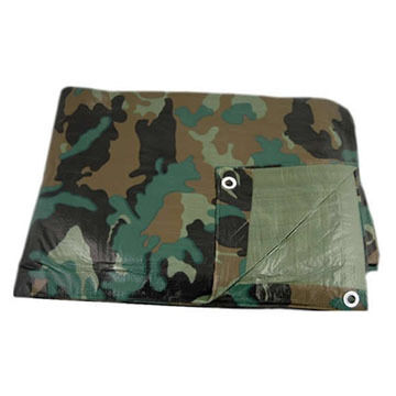 Texsport Camouflage Reinforced Rip-Stop Polyethylene Tarp