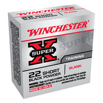 Winchester Super-X 22 Short Black Powder Blank Rimfire Ammo (50)