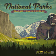 National Parks Classic Posters 2020 Wall Calendar by Anderson Design Group