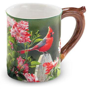 Wild Wings Garden Gateway Cardinal Sculpted Mug