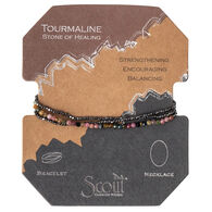 Scout Curated Wears Women's Delicate Stone Tourmaline Bracelet/Necklace