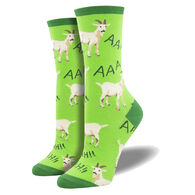 Socksmith Design Women's Screaming Goats Crew Sock
