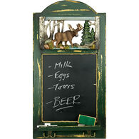 Rivers Edge Moose Hat Rack With Chalkboard