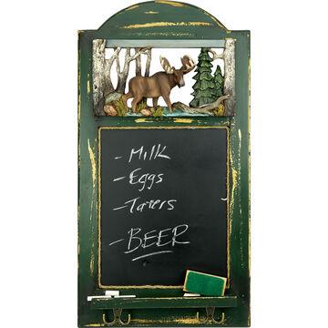 Rivers Edge Moose Hat Rack With Chalkboard