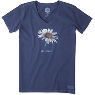 Life is Good Women's Daisy Crusher Vee Short-Sleeve Shirt