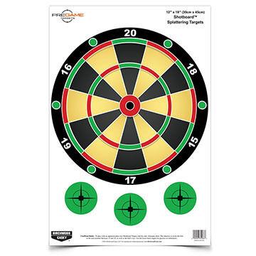 "Birchwood Casey Pregame 12"" x 18"" Shotboard Reactive Paper Target - 8 Pk."
