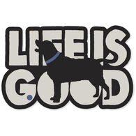 Life is Good Silo Dog Decal
