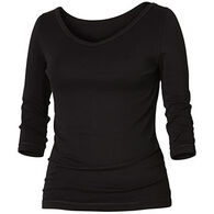 Royal Robbins Women's Kickback To Front 3/4-Sleeve Shirt