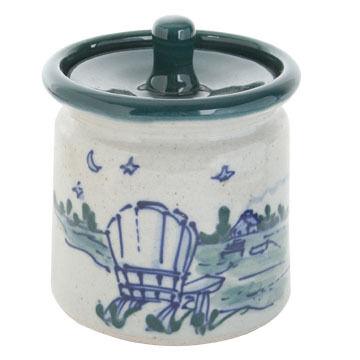 Great Bay Pottery Handmade Ceramic 4 Sugar Bowl