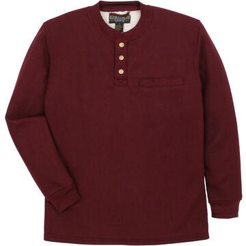 Oscar Sports Men's Waffle-Knit Sherpa-Lined Henley Long-Sleeve Shirt