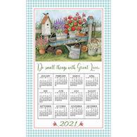 Kay Dee Designs 2021 Blue Wagon Calendar Towel